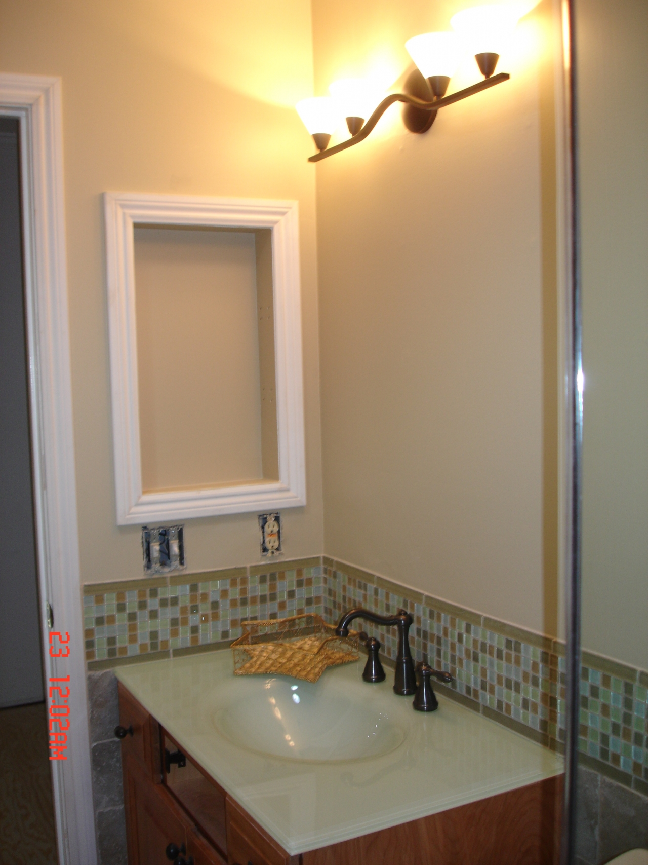 Bathroom Remodel Glass Tile bathroom remodel in benecia - john tanner general contractor