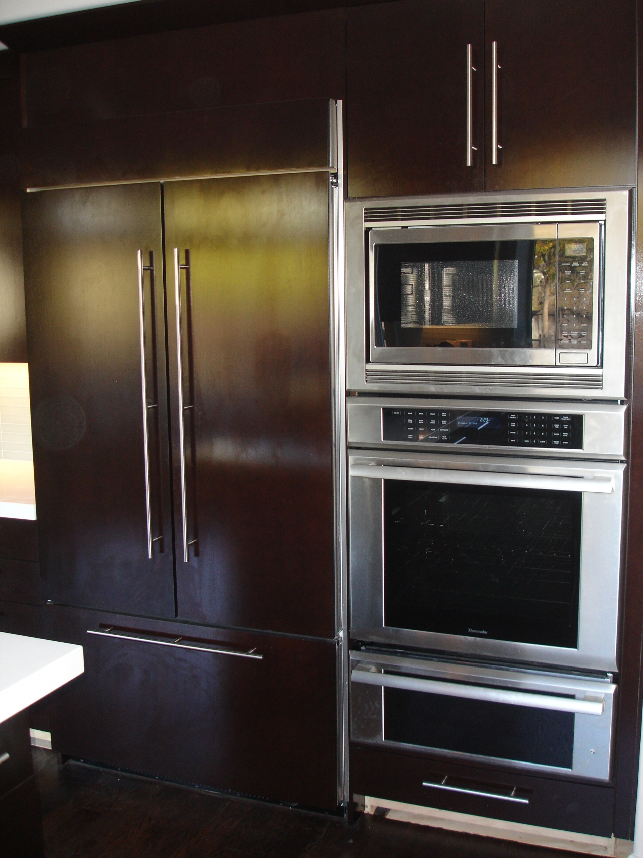 Uncategorized Contra Costa Appliance And Kitchen Center custom cabinets john tanner general building refrigerator doors with oversized pulls kitchen remodel